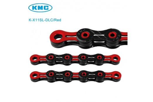Ķēdes un posmi KMC DLC X11SL 116L Black