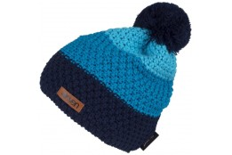 ELEVEN knitted beanie POM blue