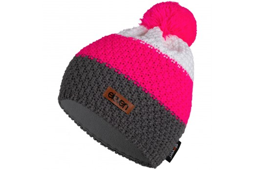 ELEVEN knitted beanie POM pink