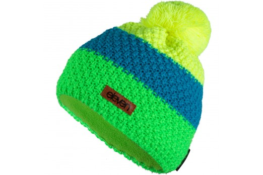 ELEVEN knitted beanie POM fluo
