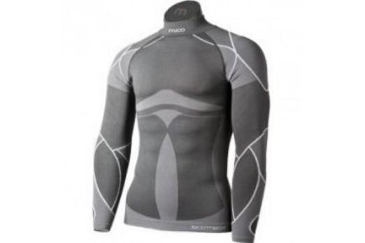 Termoveļa Mico Man High Neck Shirt With Long Sleeves Warm Skin