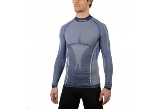 Termoveļa Mico Man Long Sleeves Mock Neck Shirt Silver Skin