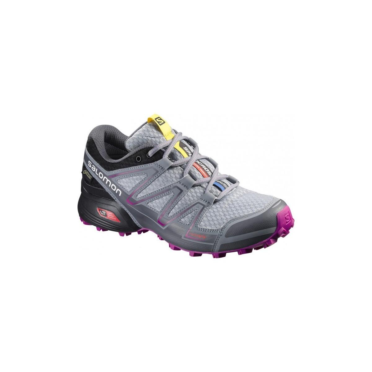 SALOMON trail running shoes SPEEDCROSS VARIO GTX W grey Color Grey Size 5.5
