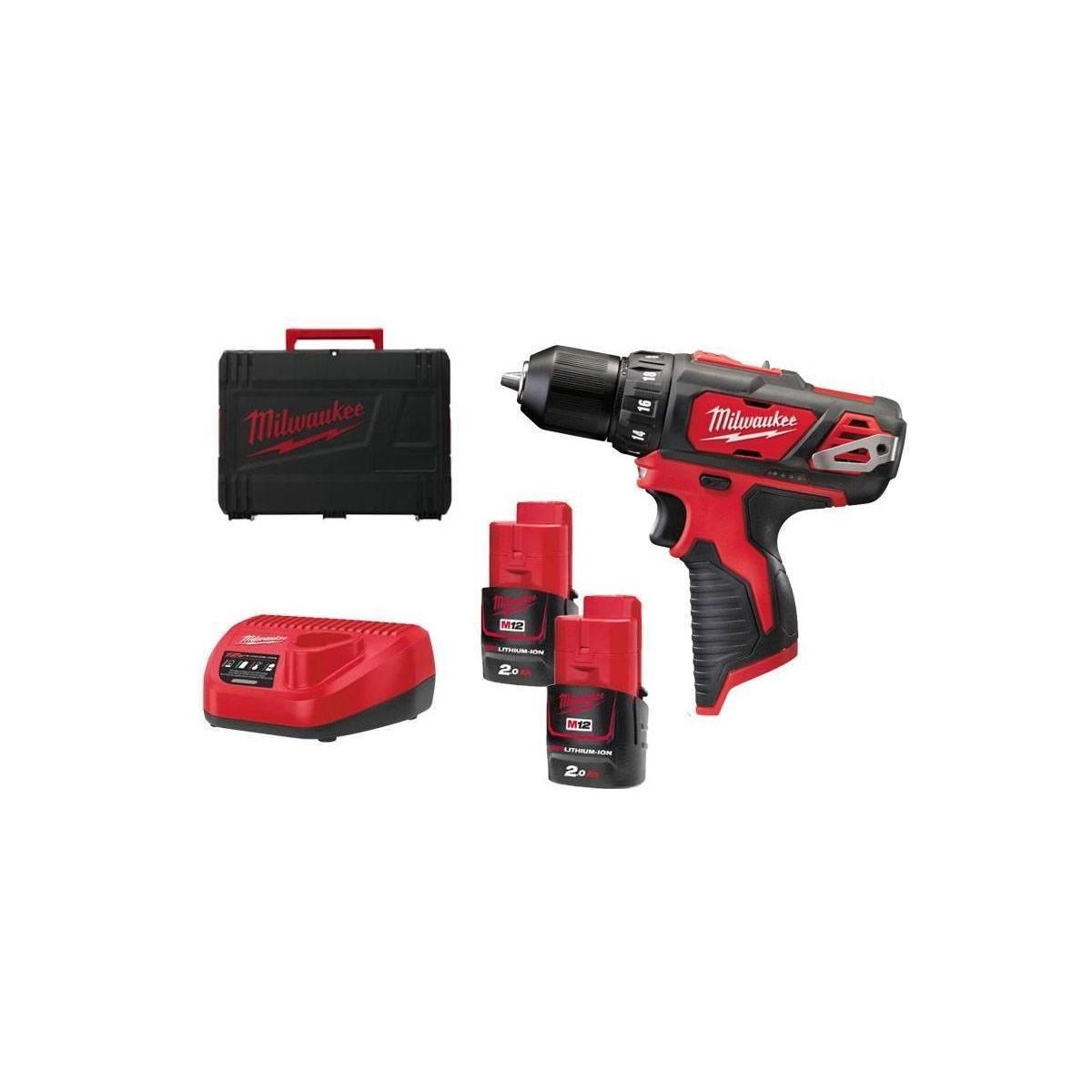 Milwaukee  cordless Drill/Driver M12 BDD-202C 2x2.0Ah 4933441915