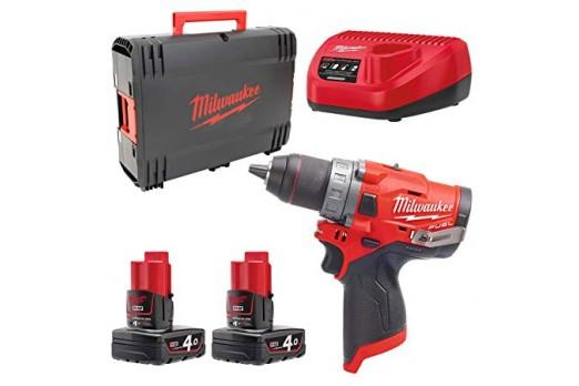 Milwaukee cordless Drill/Driver M12 FDD-402X 2x4.0Ah 4933459818