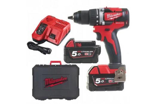 Milwaukee bezoglīšu Akumulatora urbjmašīna M18 CBLDD-502C 2x5.0Ah 4933464556