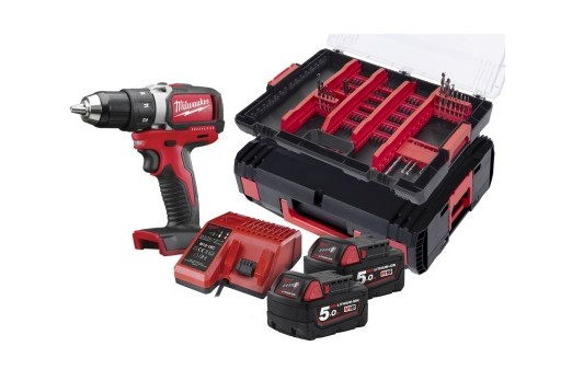 Milwaukee  brushless Cordless Impact Driver Milwaukee M18 FPDA-502X 2x5.0Ah with accessories 100pcs 4933464127