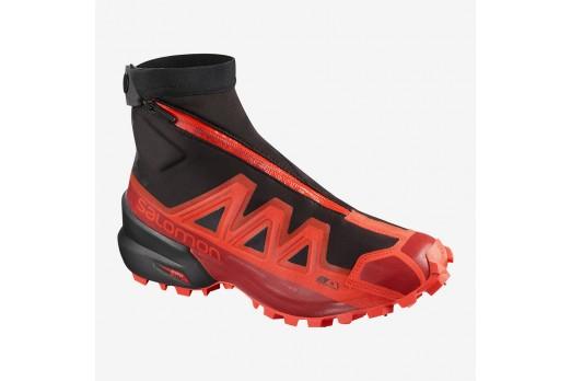 SALOMON running shoes Snowspike CSWP red/black