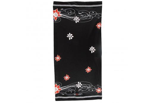 ELEVEN multifunctional scarf cap FLOWER black
