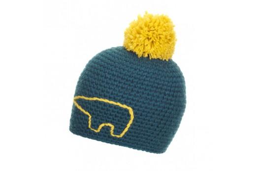 EISBAR cepure JAY POMPON blue/yellow