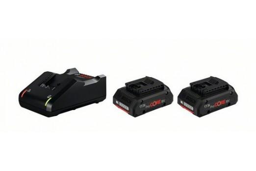 BOSCH Akumulatoru un lādētāja komplekts GBA 18V, 2x4.0Ah ProCORE + GAL 18-40, 1600A01BA3