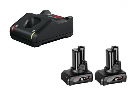 BOSCH Akumulatoru un lādētāja komplekts GBA 12V 2x6.0Ah + GAL 12V-40, 1600A01B20