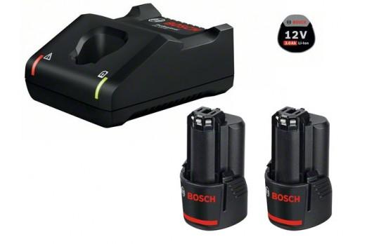 BOSCH Akumulatoru un lādētāja komplekts GBA 12V 2x3.0Ah + GAL 12V-40 Set, 1600A019RD