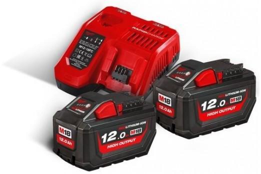 Milwaukee Akumulatoru un lādētāja komplekts M18 NRG-122, 2x12V HB18 18V, 4933464261