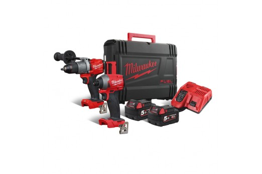 MILWAUKEE Cordless Impact Driver/Wrench set M18 FPP2A2-502X, M18 FPD2 + M18 FID2 2x5.0Ah 4933464268