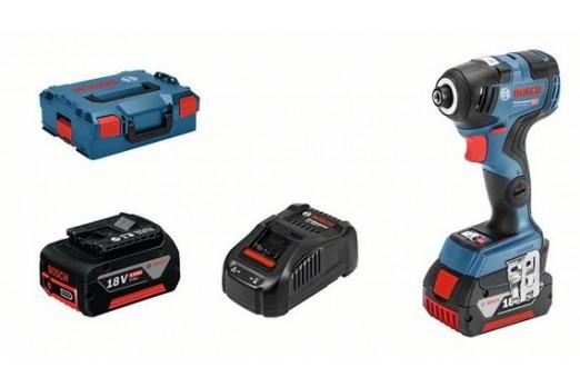 BOSCH Akumulatora triecienskrūvgriezis GDR 18V-200 C, 2x5.0Ah, 200Nm, 06019G4101