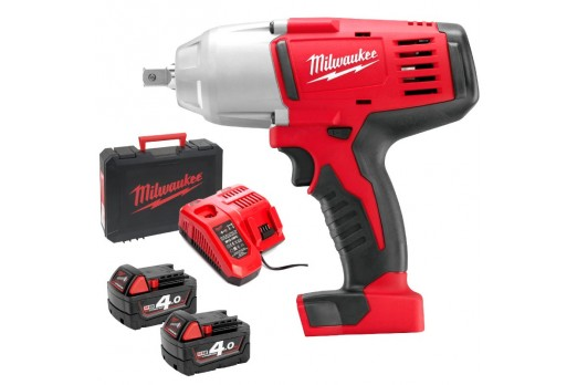 MILWAUKEE Cordless Impact Wrench HD18 HIW-402C, 610 Nm, 2x4.0Ah, 4933441260
