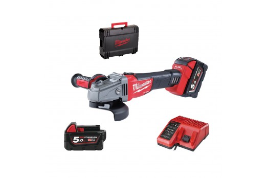 MILWAUKEE Cordless angle Grinder M18 CAG125X-502 brushless 2x5.0Ah 4933448866