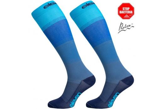 Eleven knee compression socks MONO blue