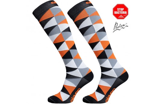 ELEVEN knee compression socks TRIANGLE orange