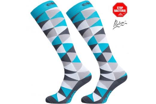 ELEVEN knee compression socks TRIANGLE blue