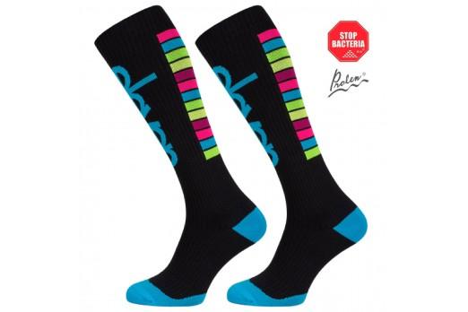 ELEVEN long compression socks STRIPES black