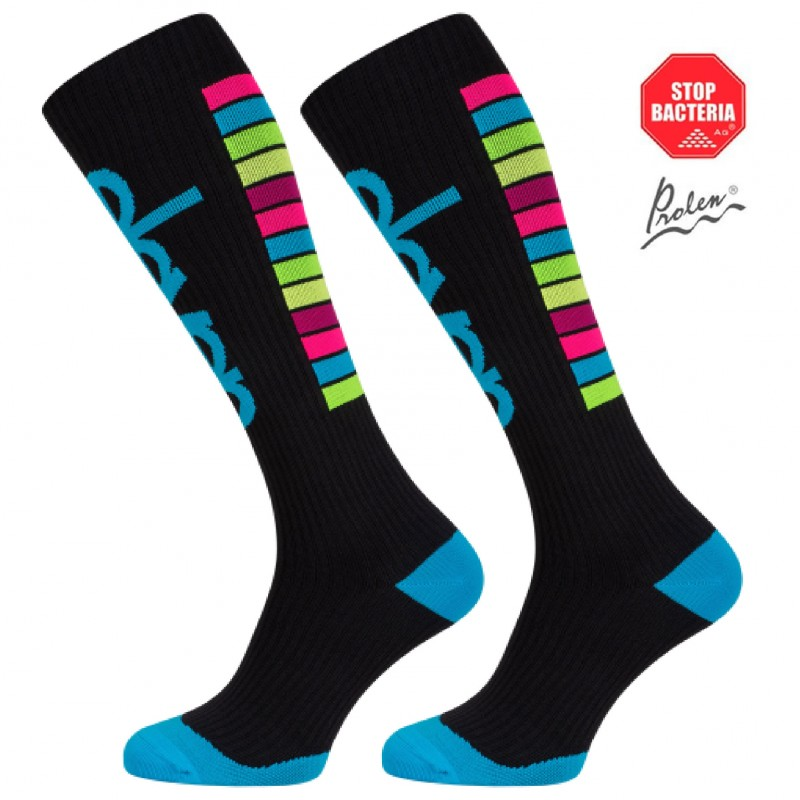 ELEVEN long compression socks STRIPES black
