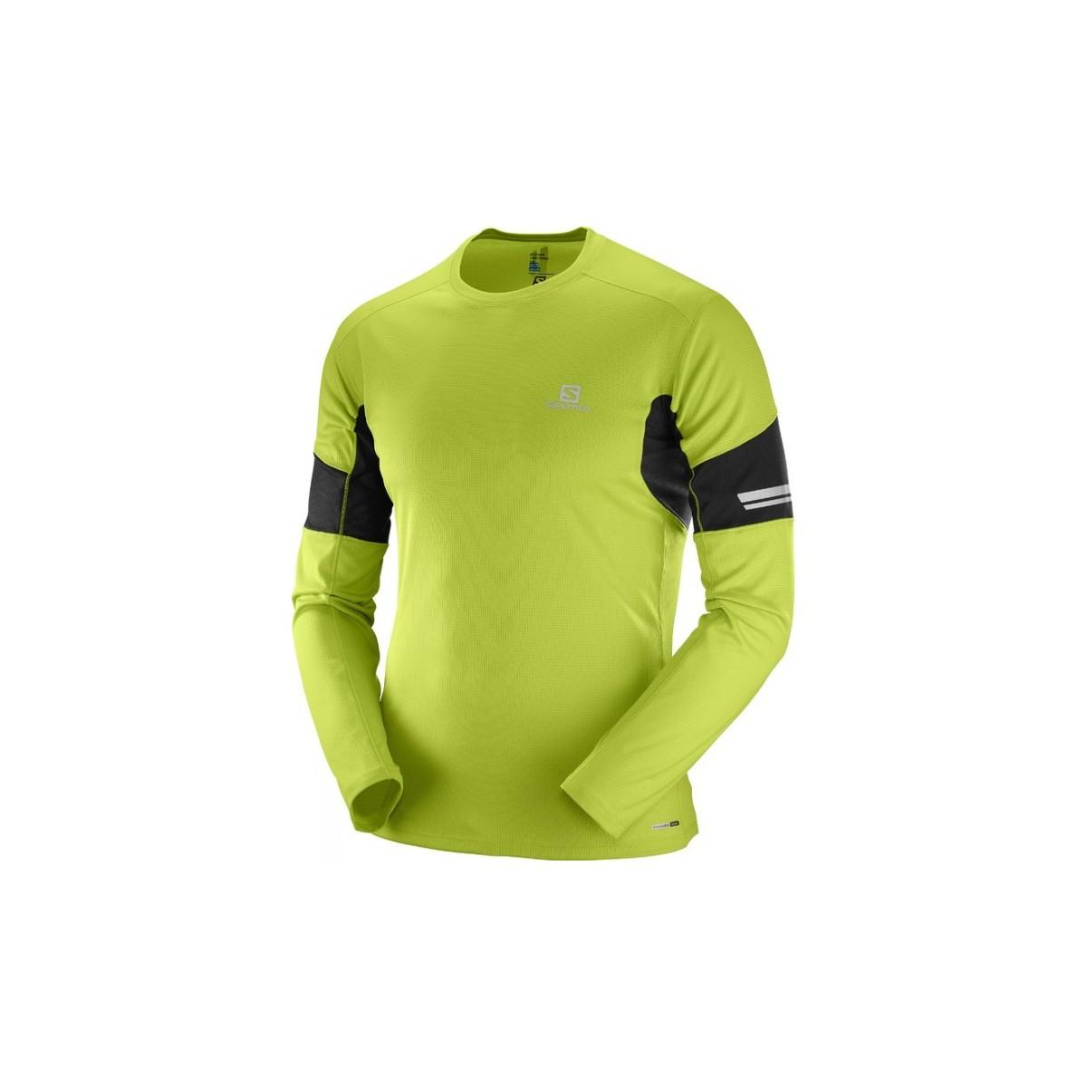 SALOMON running shirt LS AGILE TEE green