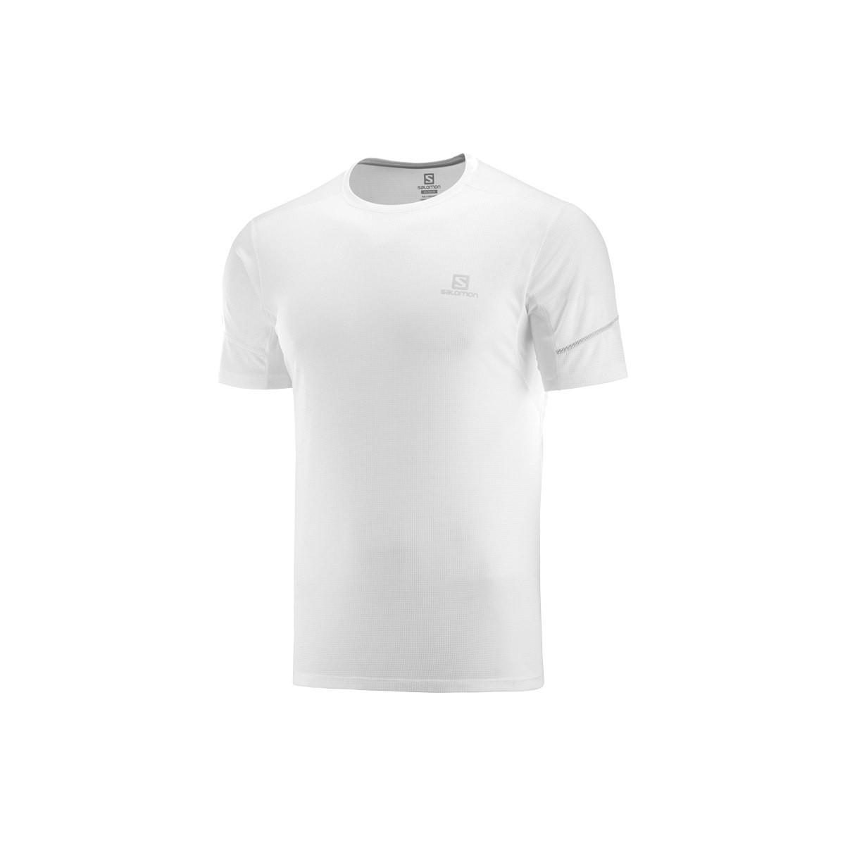 SALOMON shirt SS AGILE TEE white