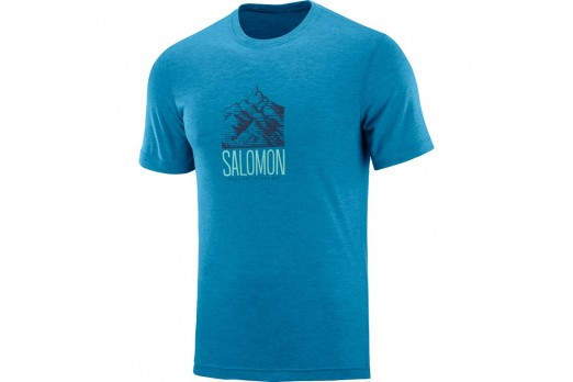 SALOMON t-krekls EXPLORE GRAPHIC TEE zils