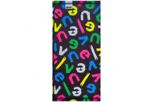 ELEVEN multifunctional scarf cap LETT BK COLOR