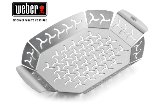 WEBER GRILLING BASKET - SMALL, STAINLESS STEEL, 19cm x 27cm, 6677