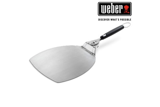 WEBER PIZZA PADDLE - STAINLESS STEEL PADDLE, HANDLE ROTATES FOR COMPACT STORAGE 32x66cm, 6691