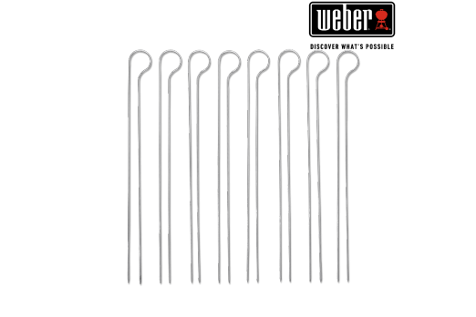 WEBER GRILLING SKEWER SET - 33cm, 8 PCS, 8402