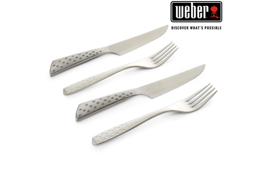 WEBER DELUXE STEAK KNIFE SET - SET OF 2, 17844