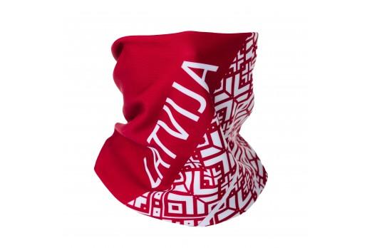 ELEVEN neck warmer LATVIJA red