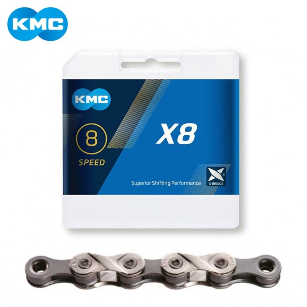 KMC ķēde X8 sudraba