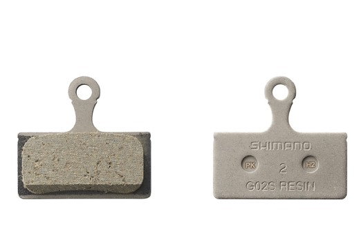 Shimano resin brake pads G02S for disc brakes