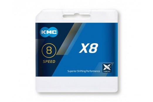 KMC ķēde X8 sudraba/pelēka