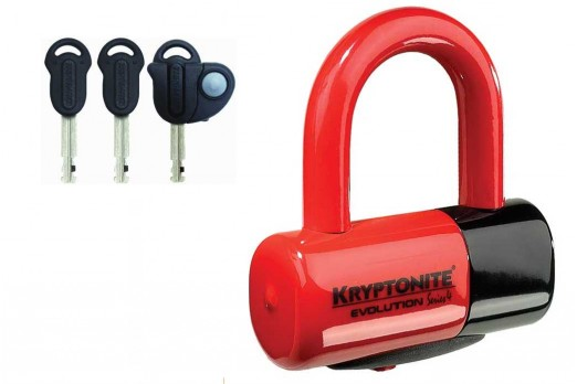 Kryptonite Evolution Series 4 Disc Lock Red